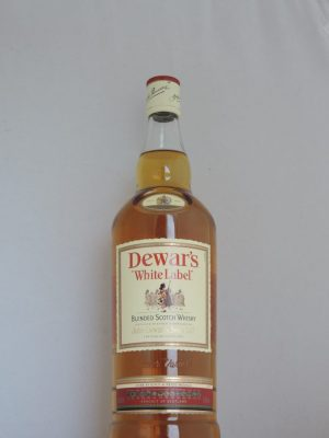dewars white label old bottle liter